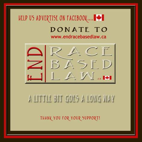 END RACE BASED LAW inc. Support the Cause