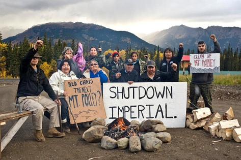 Tahltan blockading yet another mining company, October, 2014