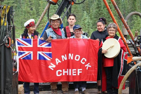 Tahltan elders and Central Council officials blockaded a mining company's access - July, 2015 (IMAGE-Tahltan Central Council)