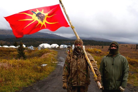 Tahltan Klabona Keepers during another mining blockade, in 2013