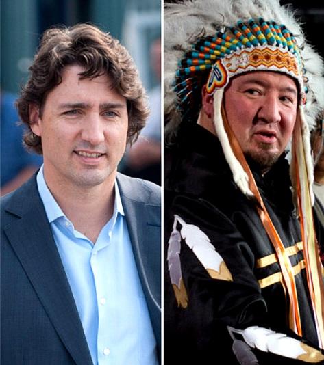 Trudeau and Nepinak (POSTMEDIA NEWS -THE CANADIAN PRESS)