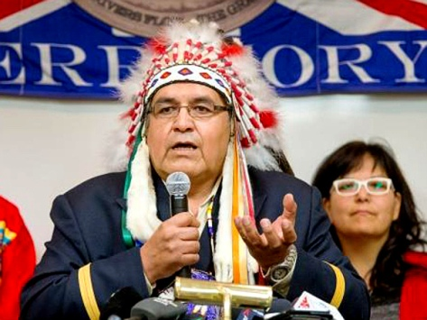 Wallace Fox, chief of the Onion Lake Cree 'Nation' near Lloydminster, Sask. (Gord Waldner-The StarPhoenix)