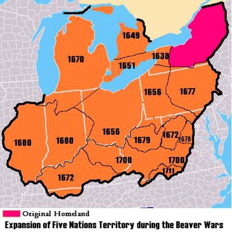 Iroquois conquests, 1638–1711