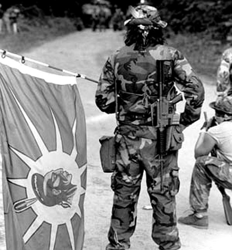oka-warrior-with-flag-1990