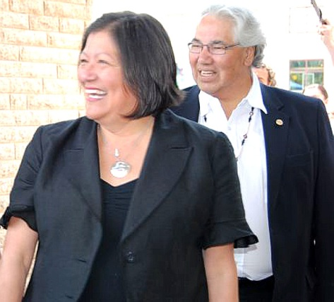 Katherine Morrisseau-Sinclair and Justice Murray Sinclair