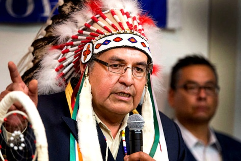 Onion Lake's Chief Wallace Fox (GORD WALDNER-Postmedia Network)