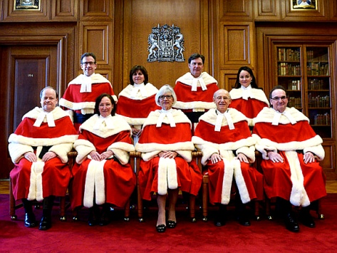 The Supreme Court of Canada justices-the new power in the land-THE CANADIAN PRESS-Adrian Wyld