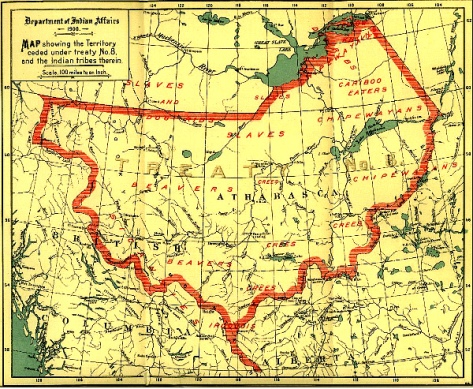Treaty 8 map -- 1900