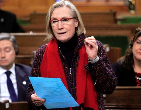 Carolyn Bennett, Minister of 'Indigenous' and Northern Affairs, in the House of Commons on Friday, March 11, 2016. (THE CANADIAN PRESS-Fred Chartrand)