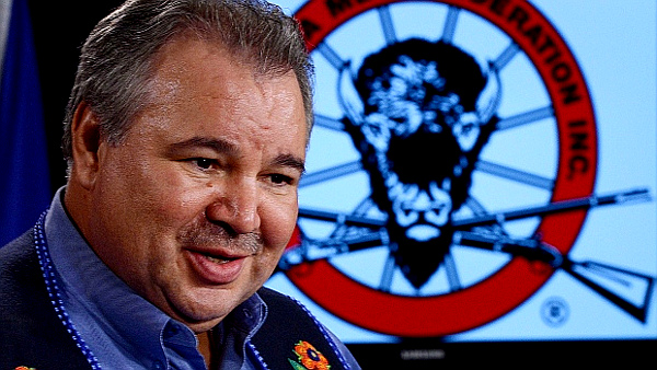 David Chartrand, President of the 'Manitoba Metis Federation' (PHOTO: Sean Kilpatrick-Canadian Press)