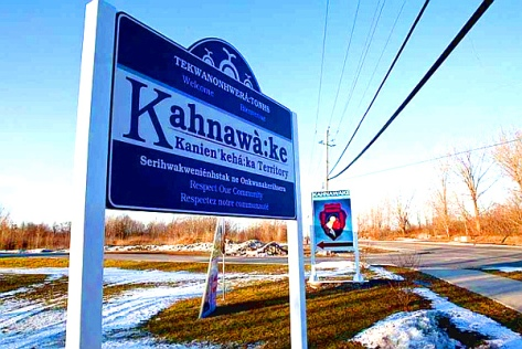 Kahnawake sign