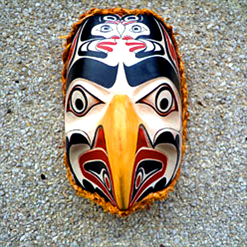 Coast Salish Eagle Clan Mask, Janice Morin