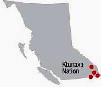 Ktunaxa'Nation'Map