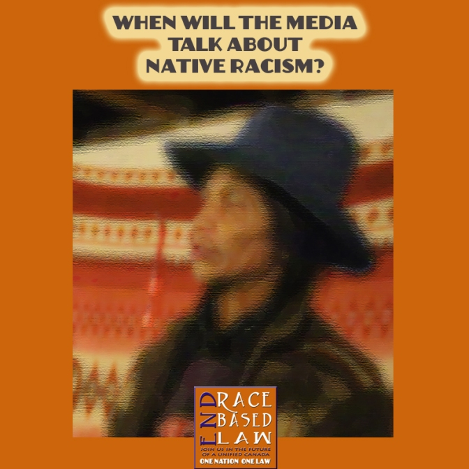 When will the media talk about native racism?