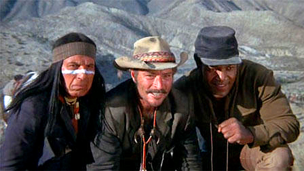With Lee Van Cleef and Jim Brown in 'EL CONDOR'