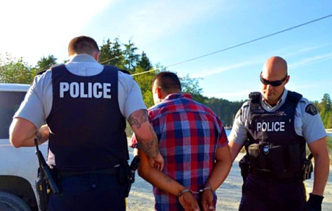 Fish Farm Arrests, August 22, 2016. (PHOTO: Yaakswiis Warriors)