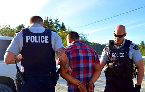 Fish Farm Arrests, August 22, 2016. (PHOTO: Yaakswiis Warriors)