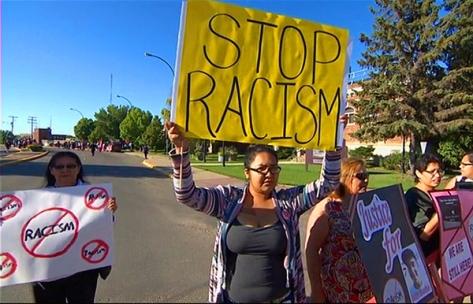 Colten Boushie Court rally (CBC)