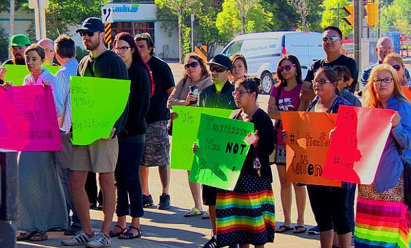 Colten Boushie rally Saskatoon (CBC)