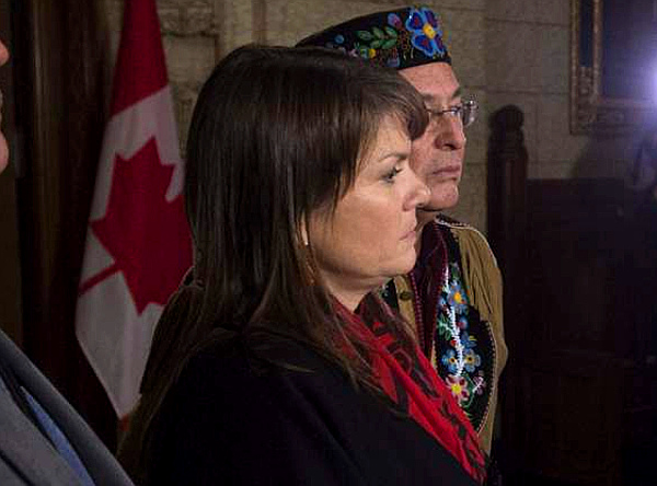 Dawn Lavell-Harvard, President of the 'Native Women's Association of Canada' (THE CANADIAN PRESS - Adrian Wyld)
