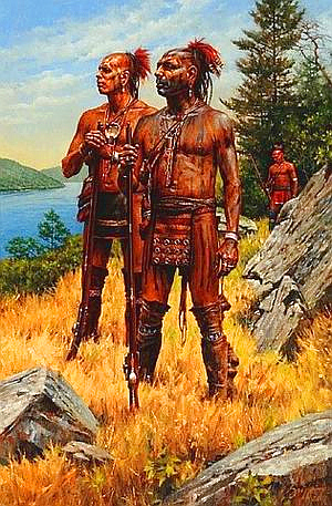 'Iroquois warriors in their land' (by Robert Griffing)