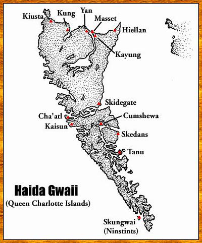 MAP - HAIDA GWAII