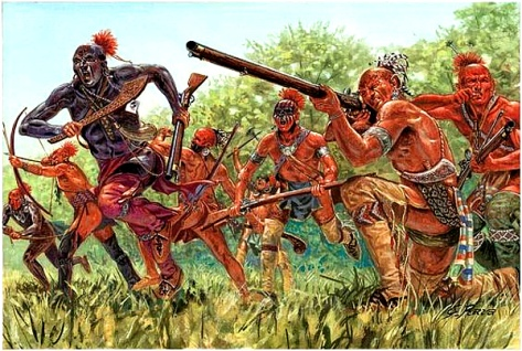 Seneca Warriors, late 1700s