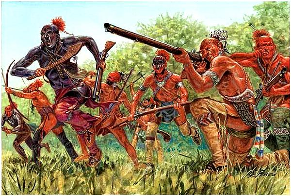 Seneca Warriors, late 1700s