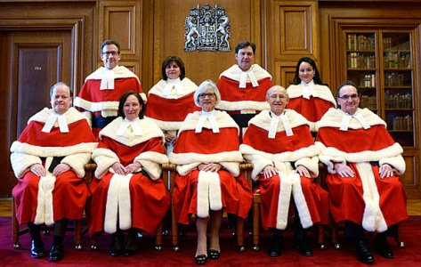 The Supreme Court of Canada justices -- the new power in the land (THE CANADIAN PRESS - Adrian Wyld)
