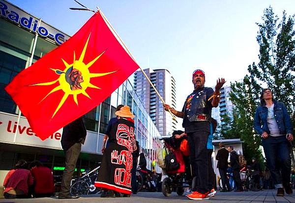 Anti-Enbridge protest -- Vancouver