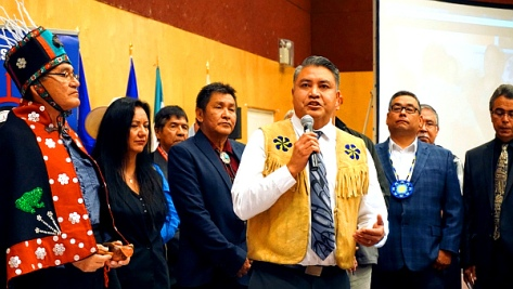 Chief Terry Teegee of the Carrier Sekani Tribal Council, Sept. 22, 2016 in Vancouver. (Photo by Elizabeth McSheffrey)