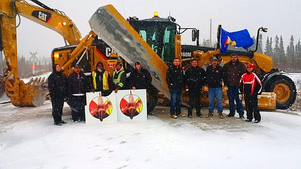 Fox Lake Cree 'Nation' blocked Highway 290. (PHOTO: Fox Lake Cree 'Nation')