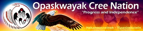 Opaskwayak Cree 'Nation' banner