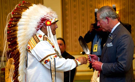 Prince Charles meets with native leaders in Toronto (2012) to mark the Queen's Diamond Jubilee. (PHOTO: Paul Chiasson-Canadian Press)