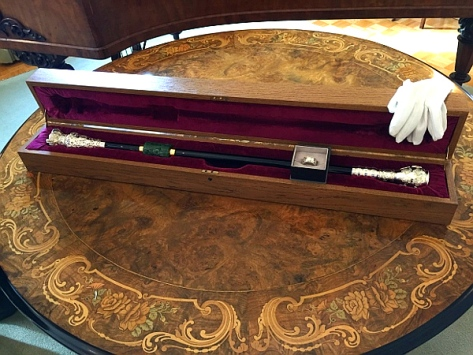 The Black Rod used in the B.C. Legislature. (PHOTO: B.C. Legislature)