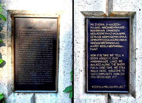 Replacing Canadian plaque at Casa Loma (Photo: Ogimaa Mikana)