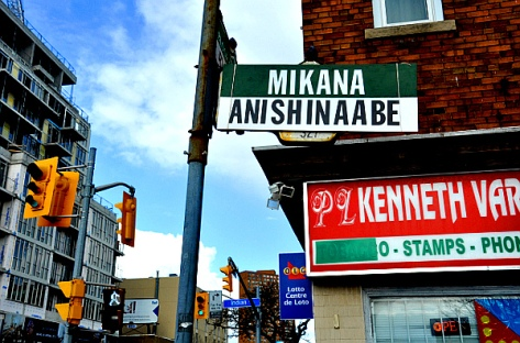 Indian Rd. and Bloor St. West (Photo: Ogimaa Mikana)