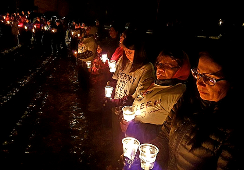 More than 250 people came together in La Ronge, Sask., after a sixth suicide in northern Saskatchewan. (PHOTO: Jim Searson)