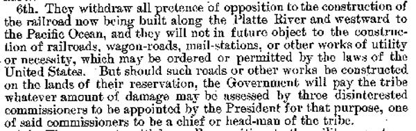 Fort Laramie Treaty of 1868 -- Pertinent Clause