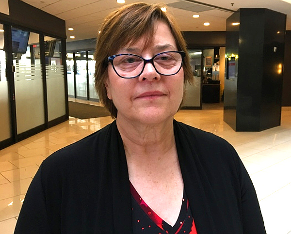 Lawyer Leslie Sullivan without evidence says healing lodges and other alternative justice measures are effective in reducing crime. (Jason Warick--CBC)