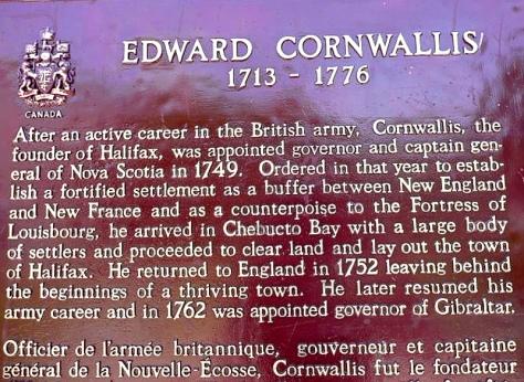 Cornwallis Plaque