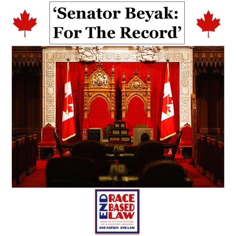 'Senator Beyak: For The Record'