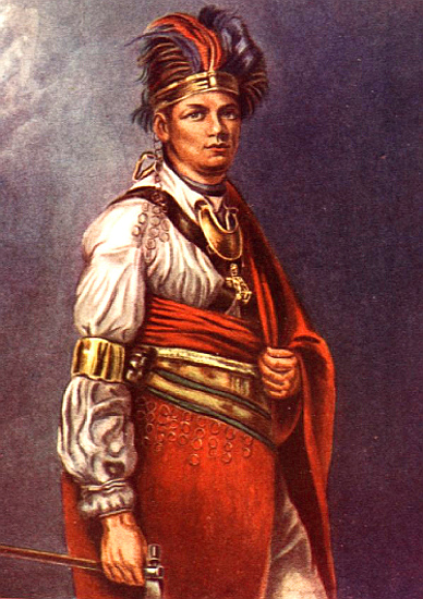 Thayeadanegea, Joseph Brant, the Mohawk Chief (Portrait by George Romney)