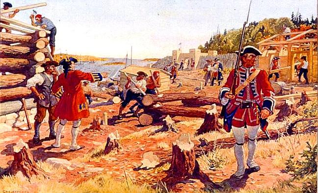 The Founding of Halifax, 1749, by Charles W. Jefferys